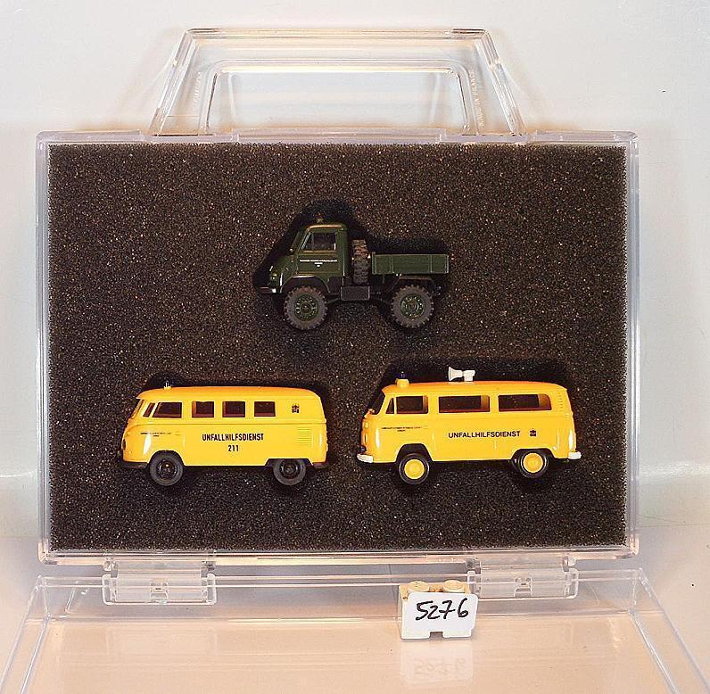 Brekina 1 87 Nº 10010 Sonderset VW Volkswagen Unimog unfallhilfsd. Neuf dans sa boîte  5276