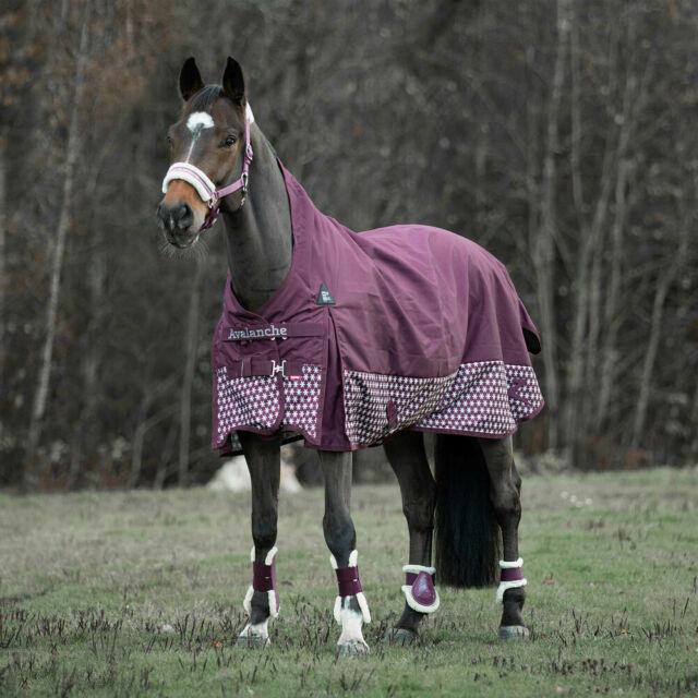Horse Turnout Blanket Hood Combo Waterproof Ripstop 1200D Heavy Weight Purple