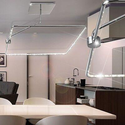 SMD LED 25,2Watt DESIGN Decken-Lampe Chrom Hänge Leuchte Beleuchtung verstellbar