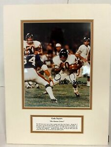 GALE-SAYERS-Chicago-Bears-Autographed-Signed-8X10-Photo-Matted-12-x16-w-tribute