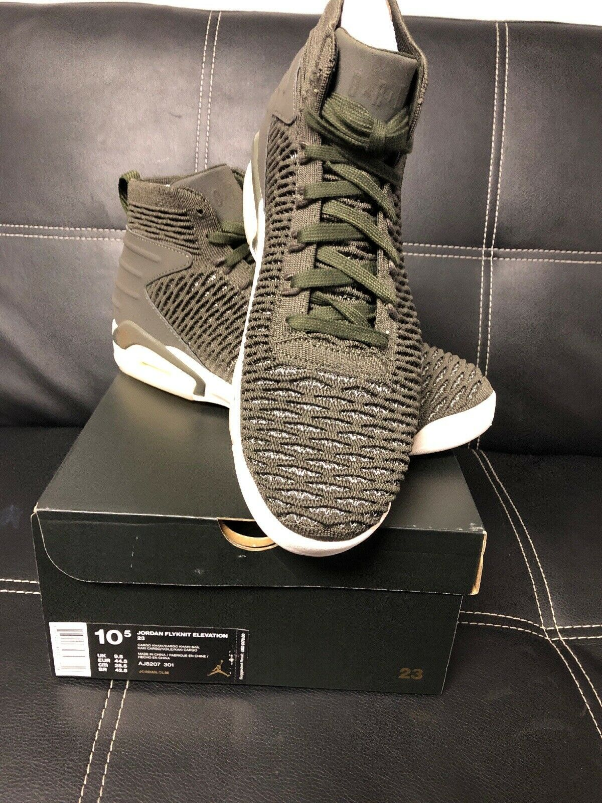 64007e51d4452e Jordan Flyknit Elevation 23 Mens Aj8207-301 Cargo Khaki Basketball Shoes Sz  10.5 for sale online