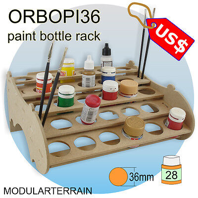 ORBOPI36 MODULAR STACKABLE PAINT BOTTLE RACK HOLDER 28 TAMIYA VALLEJO ANDREA
