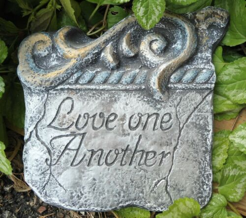 Love one another mold garden plaque concrete plaster resin casting mould