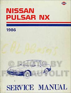 1986 nissan pulsar nx shop manual 86 original dealer repair service rh ebay com Nissan NX Coupe Nissan Pulsar NX JDM