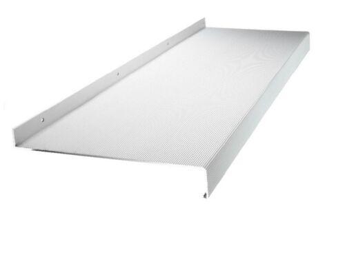 Endstücke Ausladung 150-340 mm Austritt Fensterbank Alu Begehbar silber inkl