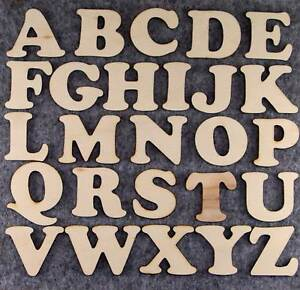Cooper Black Font Alphabet 3 or 6mm Plywood Capital Letters A-Z 26 Characters