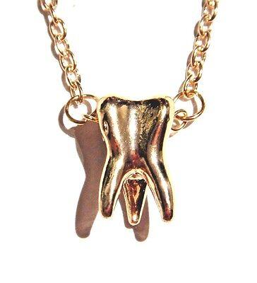 """Silver Alloy Teeth Molar Pendant Short Chain Collar Choker Necklace 18/"""""""