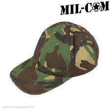 Mil-Com Esercito Mimetico Baseball Cappello Da Uomo Stile Militare WOODLAND Mimetico Cappello