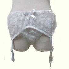 Hot&Sexy Ladies Sheer Lace Top Thigh-High Sleep Stockings+Garter Belt Suspender