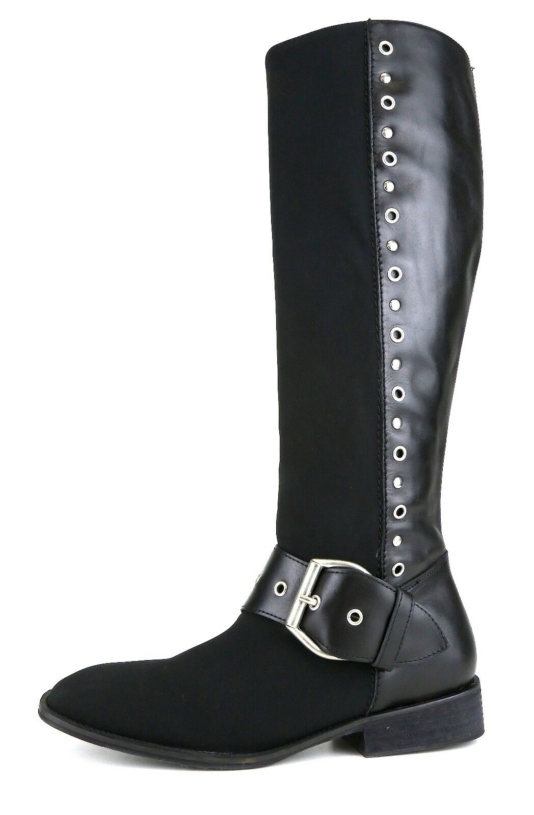 ecco l'ultimo Donald J. Pliner Gale High Rise Rise Rise Leather Flat avvio nero donna Sz 8 M 5135   esclusivo