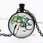 Aquarelle Vélo photo dôme en verre noir chaîne collier pendentif en gros