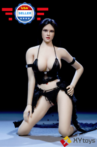 Phicen 1 6 súper flexible sin costuras cuerpo largo cabello negro sexy conjunto de muñeca de belleza