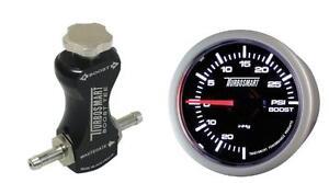 Turbosmart-Black-Manual-Boost-Controller-and-Turbosmart-52mm-Boost-Gauge-PSI