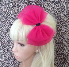 Tul Tutú Malla Arco Rosa Fuscia Alice Hair Head Band 80s Retro Fiesta Vestido de fantasía