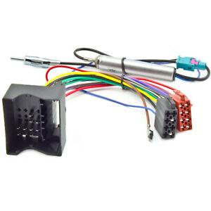 Radio-Adapter-Kabel-fuer-AUDI-OPEL-FORD-SEAT-SKODA-VW-Quadlock-Phantomspeisung