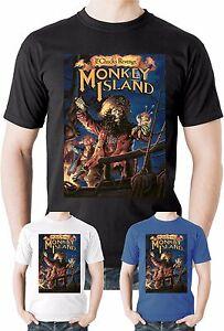 Monkey-Island-T-Shirt-Guybrush-LeChucks-Revenge-Adventure-game-Lucasarts-Tee