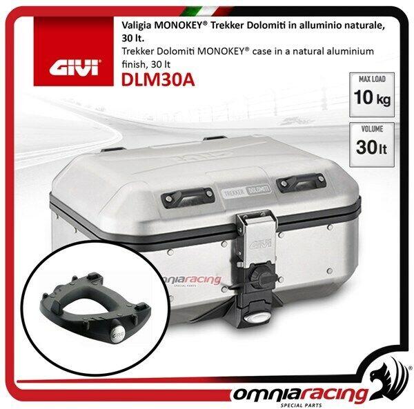 Kit Valise Givi DLM30A+Platine Piaggio Mp3 300 Sport 2012>2014