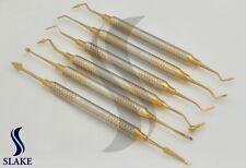6 Pcs Dental Composite Filling Instrument Gold Coated Restorative Kit