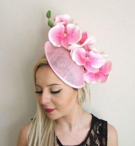 0f2d1b7af5f Light Pink Orchid Flower Saucer Disc Hat Fascinator Races Wedding ...