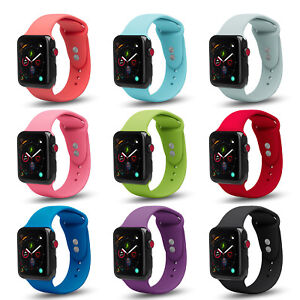 brand new 01bdc ffb79 Details about Soft Silicone Case Replacement Strap Band for Apple Watch  Series 4 3 2 1 Nike+