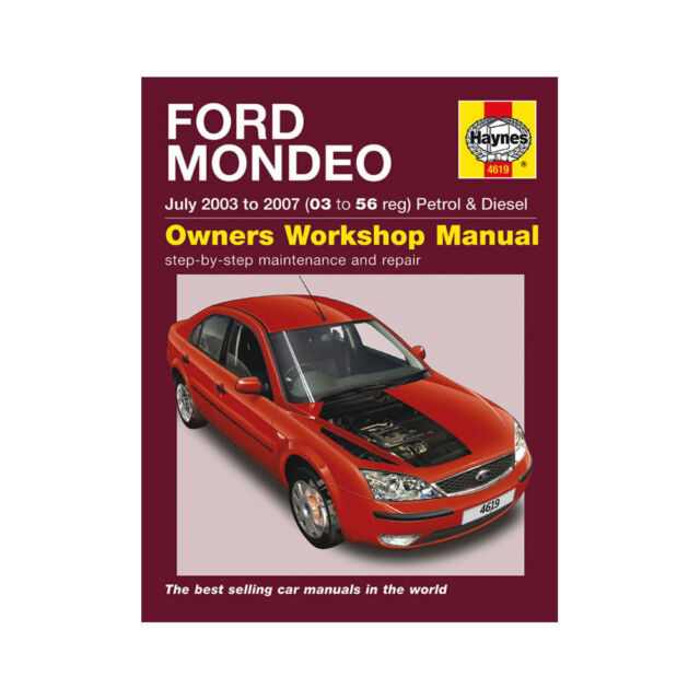 ford mondeo mk3 petrol diesel 2003 to 2007 haynes workshop manual rh ebay co uk 2006 Ford Mondeo 2002 Ford Mondeo
