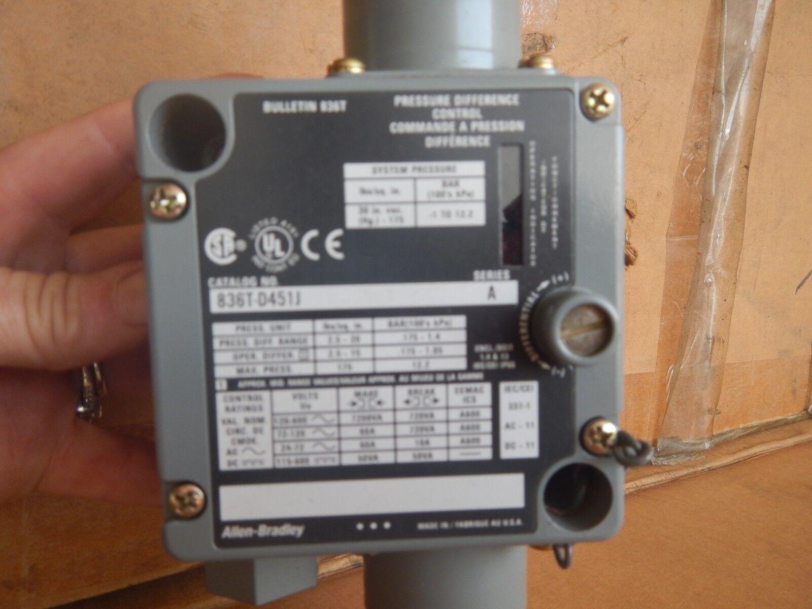 Control de presión presión presión ALLEN BRADLEY Modelo: 836T-T253J 1b9b34