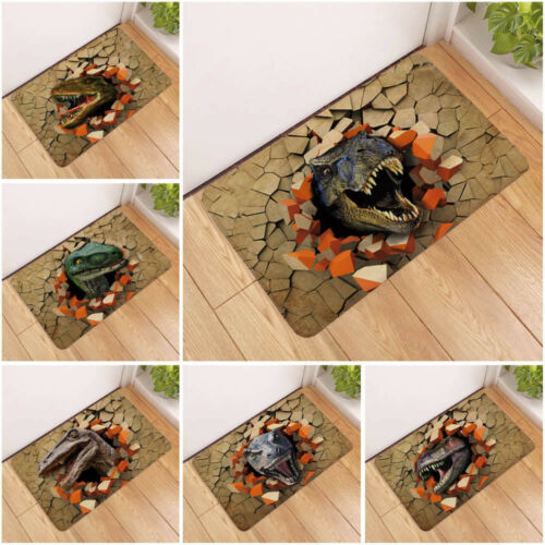 40 x 60 cm Dinosaur Doormat Kids Room Door Mat Non Slip Bathmat Thin Carpet