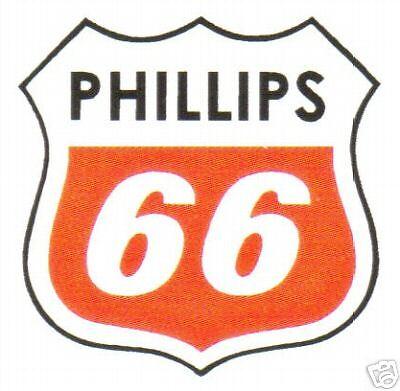 "PHIL6 15/"" PHILLIPS 66 UNIQUE GASOLINE DECALS GAS AND OIL STICKER"