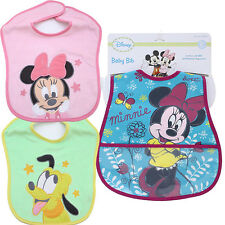 Disney Baby Minnie Mouse Friends Bibs 3pc Set for Boy 2 Terry Bibs 1 Waterproof