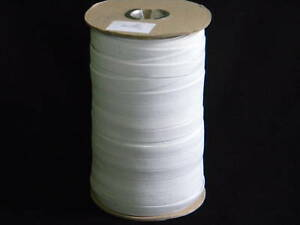 1 Roll  Elastic 1//4/'/' Wide 144 Yards~  White