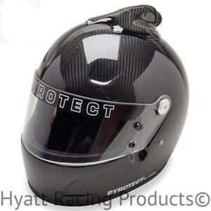 Pyrotect White Pro AirFlow Open Face Helmet SA2015 Car Auto Kart Racing