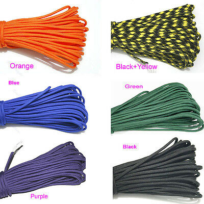Hot Outdoor Survival Nylon  Parachute Cord Paracord 550 7 Core Strand 100FT New