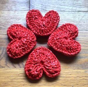Image is loading Valentine-Heart-Handmade-Plarn-Play-Toys-with-2-