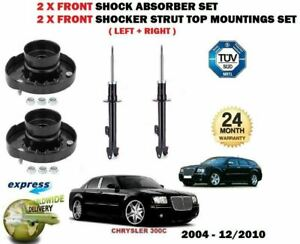 FOR CHRYSLER 300C 2005-> 2x FRONT SHOCK ABSORBER SHOCKERS + TOP STRUT MOUNTINGS