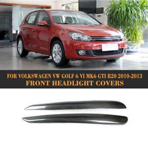2x Carbon Scheinwerferblenden  für VW Golf 6 R20 GTI BÖSER BLICK Spoiler Tunring