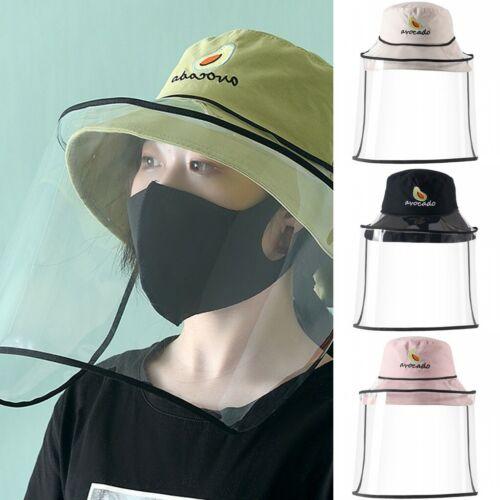 Avocado Fisherman Women Hat w Face Shield Full Face Protective Anti Saliva Hat