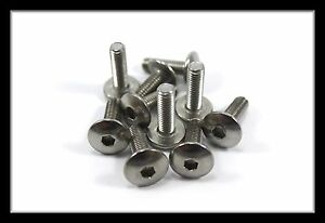 Honda-Stainless-Motorcycle-Fairing-Pan-Head-Allen-Key-Bolts-m6-x-20mm-10-Pack
