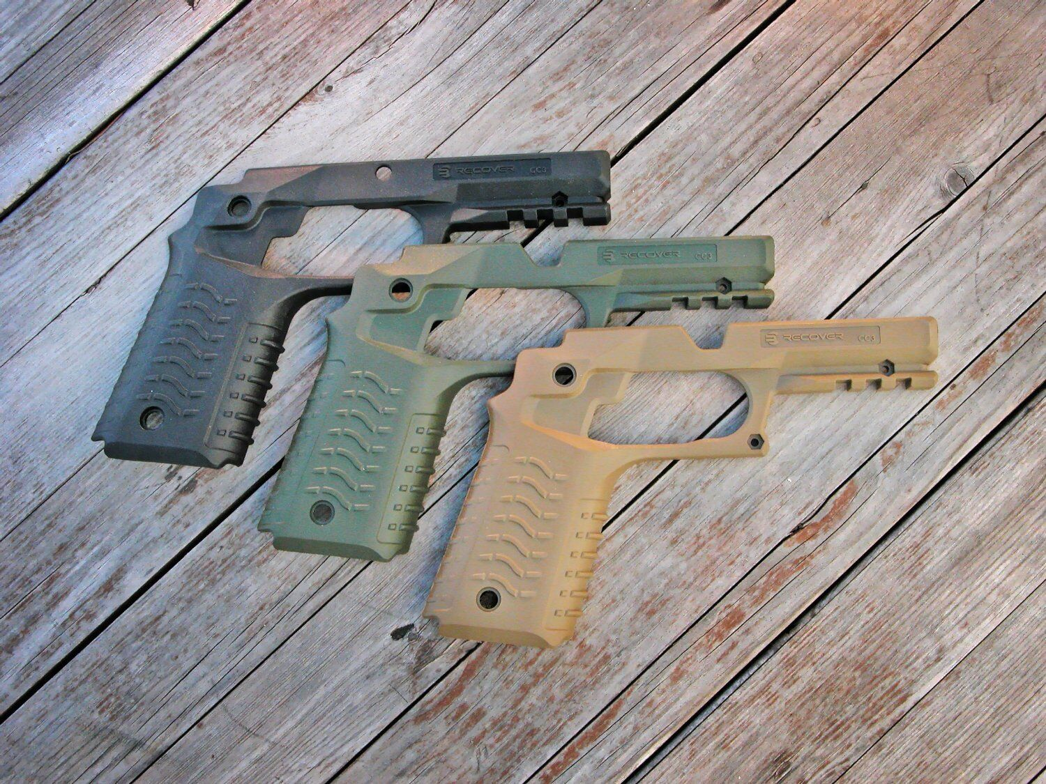 Recover Tactical Grip & Rail System For 1911 & Beretta Pistols
