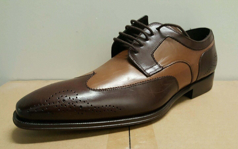 Mezlan Lincoln punta del ala formales con cordones para hombre de negocios Oxfords Vestido Formal M