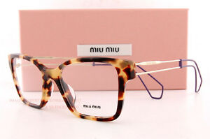 c2d9c243517 Brand New Miu Miu Eyeglass Frames MU 02PV 7S0 1O1 LIGHT HAVANA Women ...