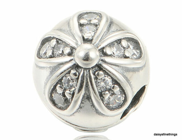 26d24ab6f PANDORA Dazzling Daisies Clip Charm 925 Sterling Silver Clear CZ 791493CZ