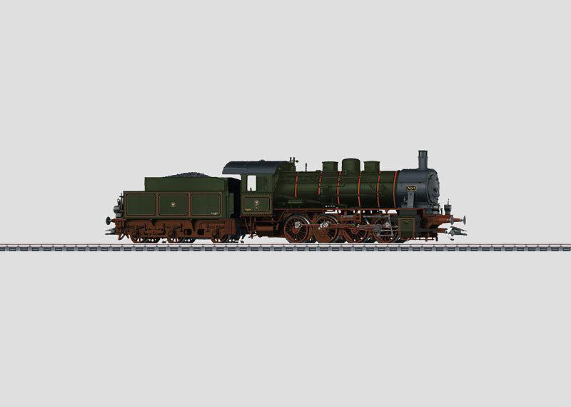 Märklin h0 37545 máquina de vapor g 8.1 cruzcampo digital mfx, sonido, vitrina, nuevo