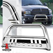 Chrome 3 Front Bumper Bull Bar Brush Grille Guard For 02 09 Ram 150025003500 Fits 2005 Dodge Ram 1500