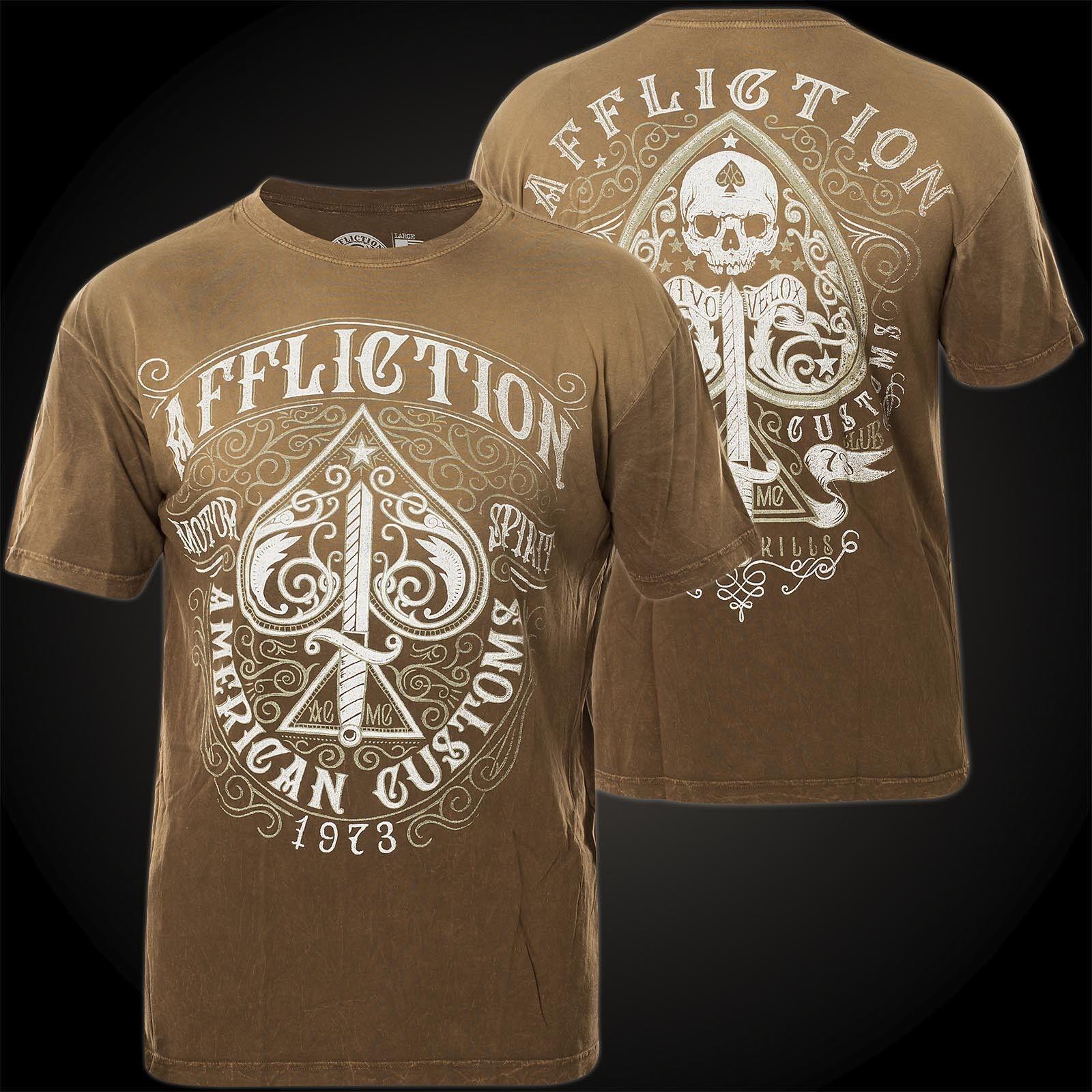 Affliction T-shirt Death Spade Marronee T-shirts