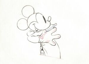 Mickey-Mouse-1937-Key-Production-Animation-Cel-Drawing-Disney-The-Worm-Turns-47