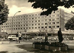 AK, Berlin Mitte, Hotel unter den Linden, belebt, 1966 (abgerissen)