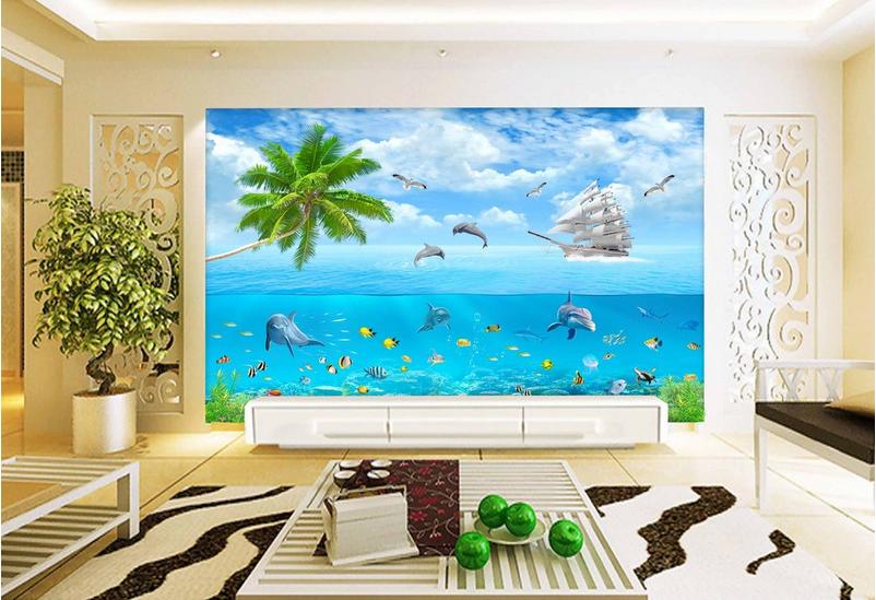 3D Stiefel Delphin Fisch Fisch Fisch 9 Tapete Wandgemälde Tapete Tapeten Bild Familie DE Summer | Auktion  | Rich-pünktliche Lieferung  | Günstige  d7a268