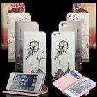 Luxury Floral Leather Stand Purse Case Cover Flip Wallet For iPhone4/4s 5/5s