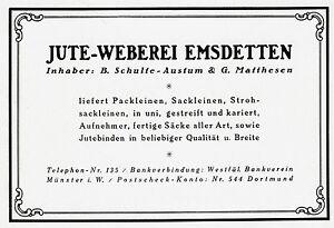 Jute-Weberei-Elmsdetten-Reklame-1925-Schulte-Austum-Matthesen-Leinen-Westfalen