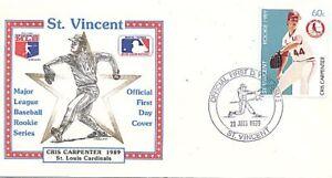 ST. VINCENT 1989 BASEBALL CRIS CARPENTER CARDINALS FDC